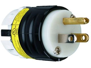 Pass   Seymour legrand 15 Amp 125 Volt Black 3 Wire Grounding Plug