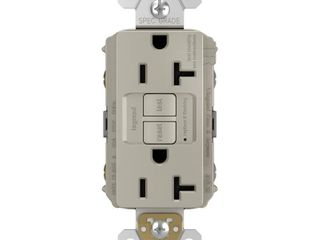 legrand radiant 20 Amp 125 Volt Tamper Resistant Self Test GFCI Duplex Outlet  Nickel