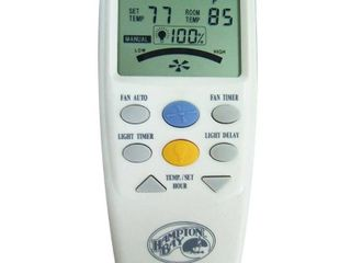 hampton bay thermostatic ceiling fan and light remote control 838 956