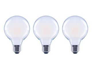 EcoSmart 40 Watt Equivalent G25 Globe Dimmable ENERGY STAR Frosted Glass Filament Vintage lED light Bulb Soft White  3 Pack