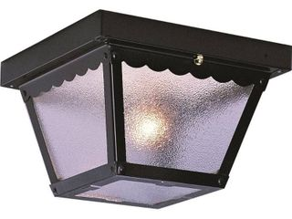 Volume lighting V7232 5 2 light Outdoor Ceiling Mount  Black