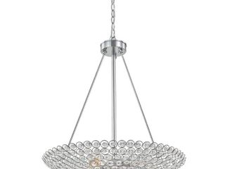 Decor living Barclay 20 in  5 light Chrome Crystal Chandelier