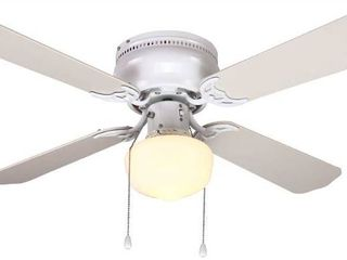 littleton 42 in  lED Indoor White Ceiling Fan with light Kit UB42S WH SH   New