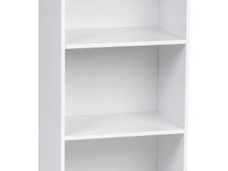 3 Tier White Wood Storage Shelves