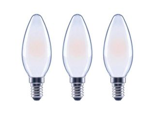 EcoSmart 40 Watt Equivalent B11 Candle Dimmable ENERGY STAR Frosted Glass Filament Vintage lED light Bulb Soft White  3 Pack