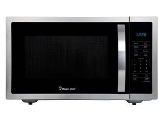 Magic Chef 1 6 cu  ft  Countertop Microwave in Stainless steel with Gray Cavity  Silver