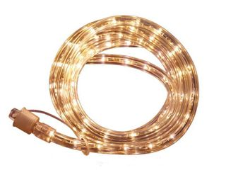 Commercial Electric Outdoor Indoor 24 ft  line Voltage  120 Volt  Soft White Flexible Integrated lED Rope light