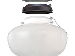 Elite Multi colored Ceiling Fan Globe lED light Kit  WHITE BN ORB