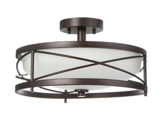 Home Decorators Collection Thayer 2 light Oil Rubbed Bronze Semi Flushmount