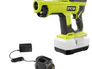 RYOBI ONE  18V Cordless Handheld Electrostatic Sprayer Kit with  1  2 0 Ah Battery and Charger