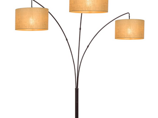 Hampton Bay 80 in  AF40818AB Antique Bronze 3 Arc Floor lamp With Burlap Shades