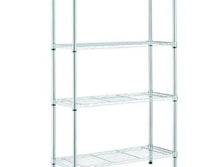 HDX Chrome 4 Tier Metal Wire Shelving Unit  36 in  W x 54 in  H x 14 in  D  Grey