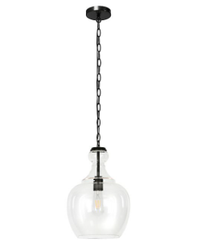 Pendant lamp In Blackened Bronze Finish