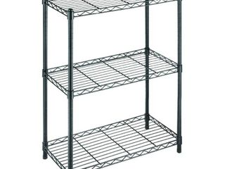 HDX Black 3 Tier Metal Wire Shelving Unit  24 in  W x 30 in  H x 14 in  D