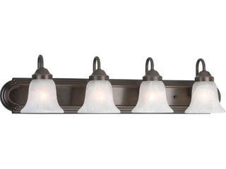 Progress lighting Alabaster Glass 30 in  4 light Antique Bronze Bathroom Vanity light
