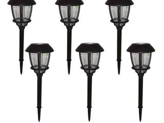 Hampton Bay Solar Oil Rubbed Bronze Outdoor Filament lED Bulb 6 lumens landscape Path light with Glass lens  6 Pack