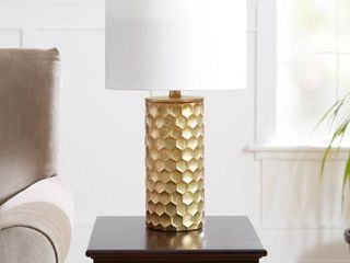 The Hive Gilded Table lamp with Shade  CFl Bulb Included