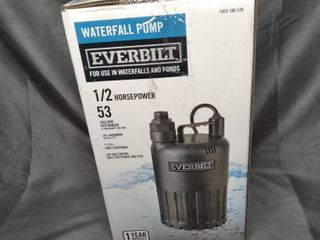 Everbilt Pump Waterfall Submersible Thermoplastic Threaded Male Durable 4 10 Hp