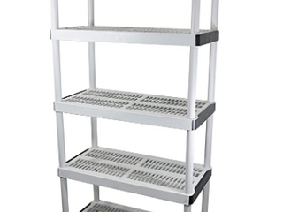 Hdx White Storage Unit With 5 Shelves