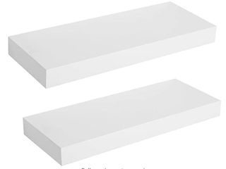 2 Folding Shelf White
