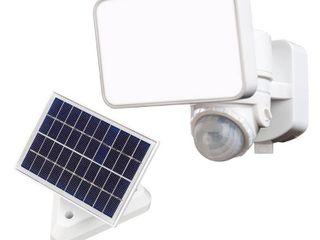 Defiant 180 White 3 in 1 Compact Solar Motion Activated Integrated lED Outdoor Flood light