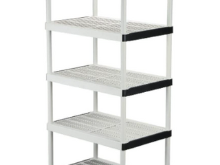 5 Tier White Garage Shelf