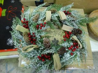 Frosted Decorative Wreath