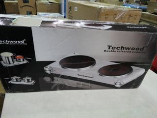 Techwood Double Infrared Cooktop
