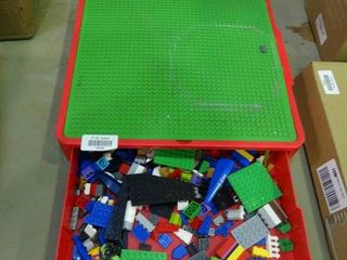 legos collection in carrying case
