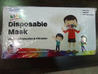 Disposable Masks for Kids   Box of 50