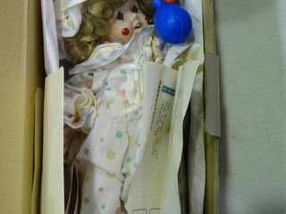 Marie Osmund Fine Porcelain  Clown Baby  Collector Doll