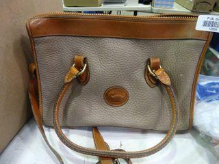 Grey and Brown Dooney and Bourke Handbag