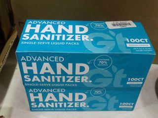 lot of Advanced Hand Sanitizer Single Serve liquid Packs