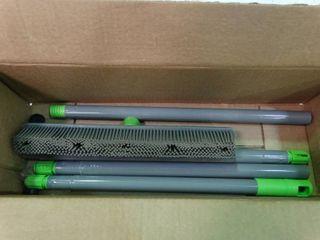 Plastic Broom with Rubber Bristles