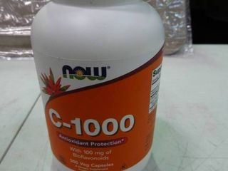 large 500 count Sealed Bottle of NOW Vitamin C 1000