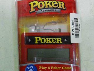 Electronic Hand Held Poker Game