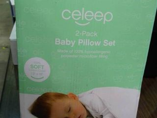 2 pack baby pillow set