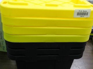 4 storage tubs with lids   smaller compact size