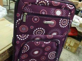 Purple Print Roller luggage