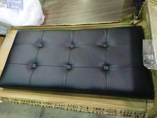 Black Collapsible Storage Bench