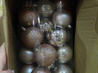 lot of Glitter and Metallic Christmas Ornaments