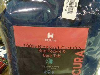 Blackout Curtain Set in Blue Velveteen