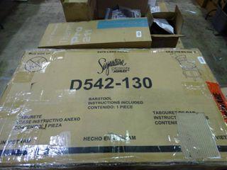 Ashley   Pinnadel D542 130 Wood Metal Swivel 30  Bar Stool