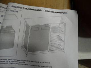 Natural Wood 4 Shelf Hamper