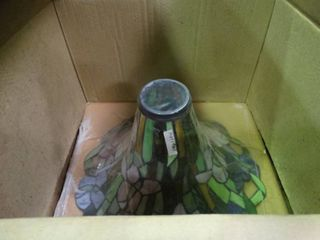 Floor lamp with Stained Glass lamp Shade
