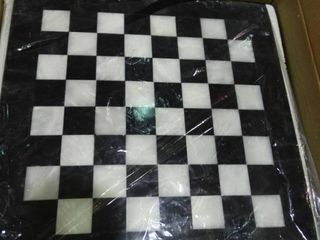 Radical Stone Chessboard with Pieces