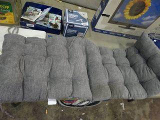 Grey Tie On Bench Cushion