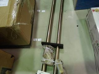 Pair of Curtain Rods   Adjustable   with Wall Mounts