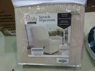 Reversible Chair Slipcover for Recliner   Ivory Color   Waffle Weave Fabric