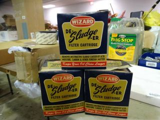 lot of 3 Wizard De Sludge er Filter Cartridges